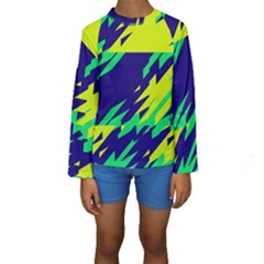 3 colors shapes     Kid s Long Sleeve Swimwear