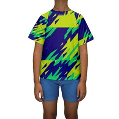3 colors shapes     Kid s Short Sleeve Swimwear