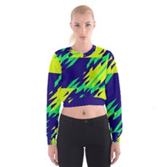 3 colors shapes      Women s Cropped Sweatshirt