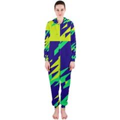 3 Colors Shapes    Hooded Jumpsuit (ladies)