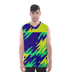 3 colors shapes    Men s Basketball Tank Top