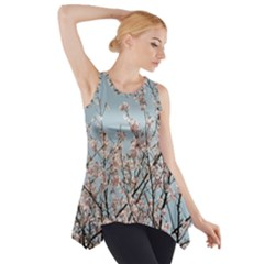 Spring Blossom Side Drop Tank Tunic