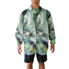 Awesome Seadraon In A Fantasy World With Bubbles Wind Breaker (Kids)