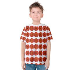 Red Rose Print Kid s Cotton Tee