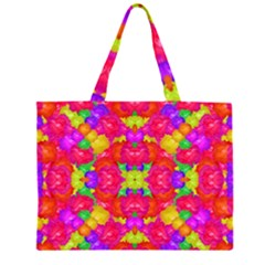 Multicolor Floral Check Large Tote Bag