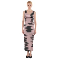 Wave form Fitted Maxi Dress