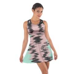 Wave form Cotton Racerback Dress