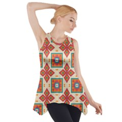 Floral pattern  Side Drop Tank Tunic