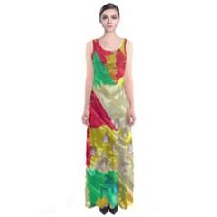 Colorful 3D texture   Full Print Maxi Dress