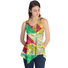 Colorful 3D texture   Sleeveless Tunic
