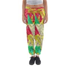 Colorful 3D texture   Women s Jogger Sweatpants