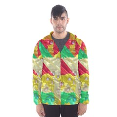 Colorful 3D texture   Mesh Lined Wind Breaker (Men)