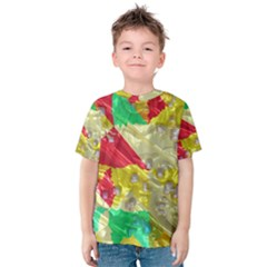 Colorful 3D texture   Kid s Cotton Tee