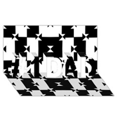 Black And White Check Pattern #1 Dad 3d Greeting Card (8x4)