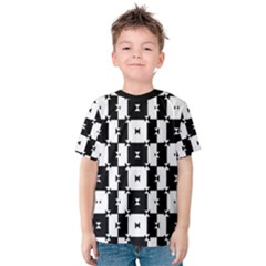 Black and White Check Kid s Cotton Tee