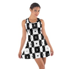 Black and White Check Racerback Dresses