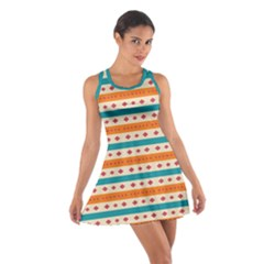 Rhombus And Stripes Pattern      Cotton Racerback Dress