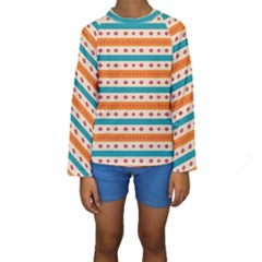 Rhombus and stripes pattern       Kid s Long Sleeve Swimwear