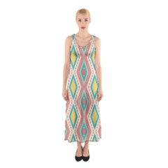Rhombus chains       Full Print Maxi Dress