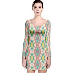 Rhombus chains       Long Sleeve Velvet Bodycon Dress