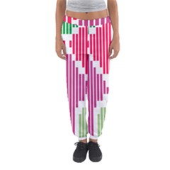 Vertical Stripes    Women s Jogger Sweatpants