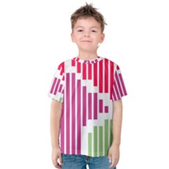 Vertical stripes    Kid s Cotton Tee