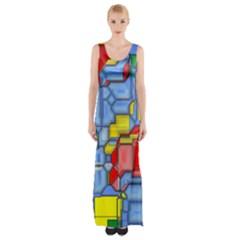 3d shapes Maxi Thigh Split Dress
