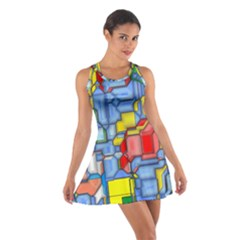 3d Shapes Cotton Racerback Dress