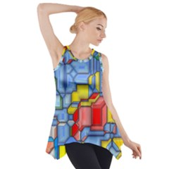 3d shapes Side Drop Tank Tunic