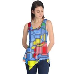 3d shapes Sleeveless Tunic