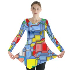 3d shapes Long Sleeve Tunic