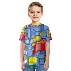 3d shapes Kid s Sport Mesh Tee