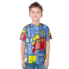 3d shapes Kid s Cotton Tee