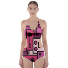 Modern Boredoodle Cut Out One Piece Swimsuit
