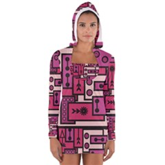 Modern BoreDoodle Women s Long Sleeve Hooded T-shirt