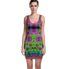 Ladies Looking At Beauty And Love Sleeveless Bodycon Dress
