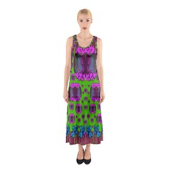 Ladies Looking At Beauty And Love Full Print Maxi Dress