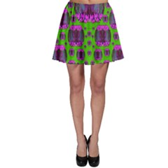 Ladies Looking At Beauty And Love Skater Skirt
