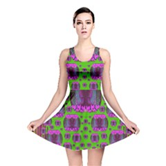 Ladies Looking At Beauty And Love Reversible Skater Dress