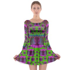 Ladies Looking At Beauty And Love Long Sleeve Skater Dress