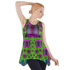 Ladies Looking At Beauty And Love Side Drop Tank Tunic