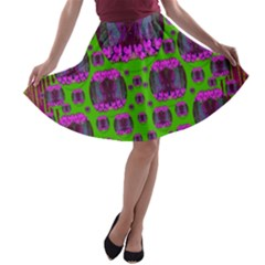 Ladies Looking At Beauty And Love A-line Skater Skirt