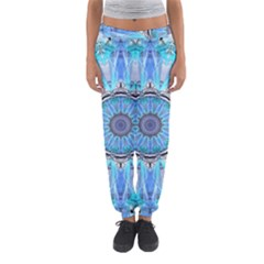 Sapphire Ice Flame, Light Bright Crystal Wheel Women s Jogger Sweatpants