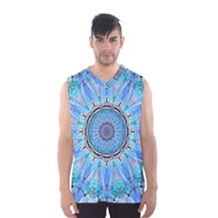 Sapphire Ice Flame, Light Bright Crystal Wheel Men s Basketball Tank Top