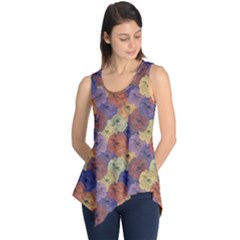 Vintage Floral Collage Print Sleeveless Tunic