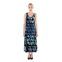 Looking Out At Night, Abstract Venture Adventure (venture Night Ii) Full Print Maxi Dress