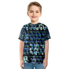 Looking Out At Night, Abstract Venture Adventure (venture Night Ii) Kid s Sport Mesh Tee