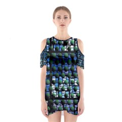 Looking Out At Night, Abstract Venture Adventure (venture Night Ii) Cutout Shoulder Dress