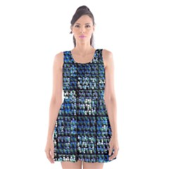 Looking Out At Night, Abstract Venture Adventure (venture Night Ii) Scoop Neck Skater Dress