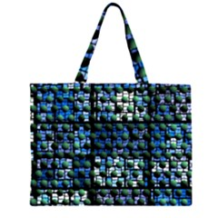 Looking Out At Night, Abstract Venture Adventure (venture Night Ii) Zipper Large Tote Bag